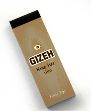 Gizeh King Size Slim Filter tips booklet