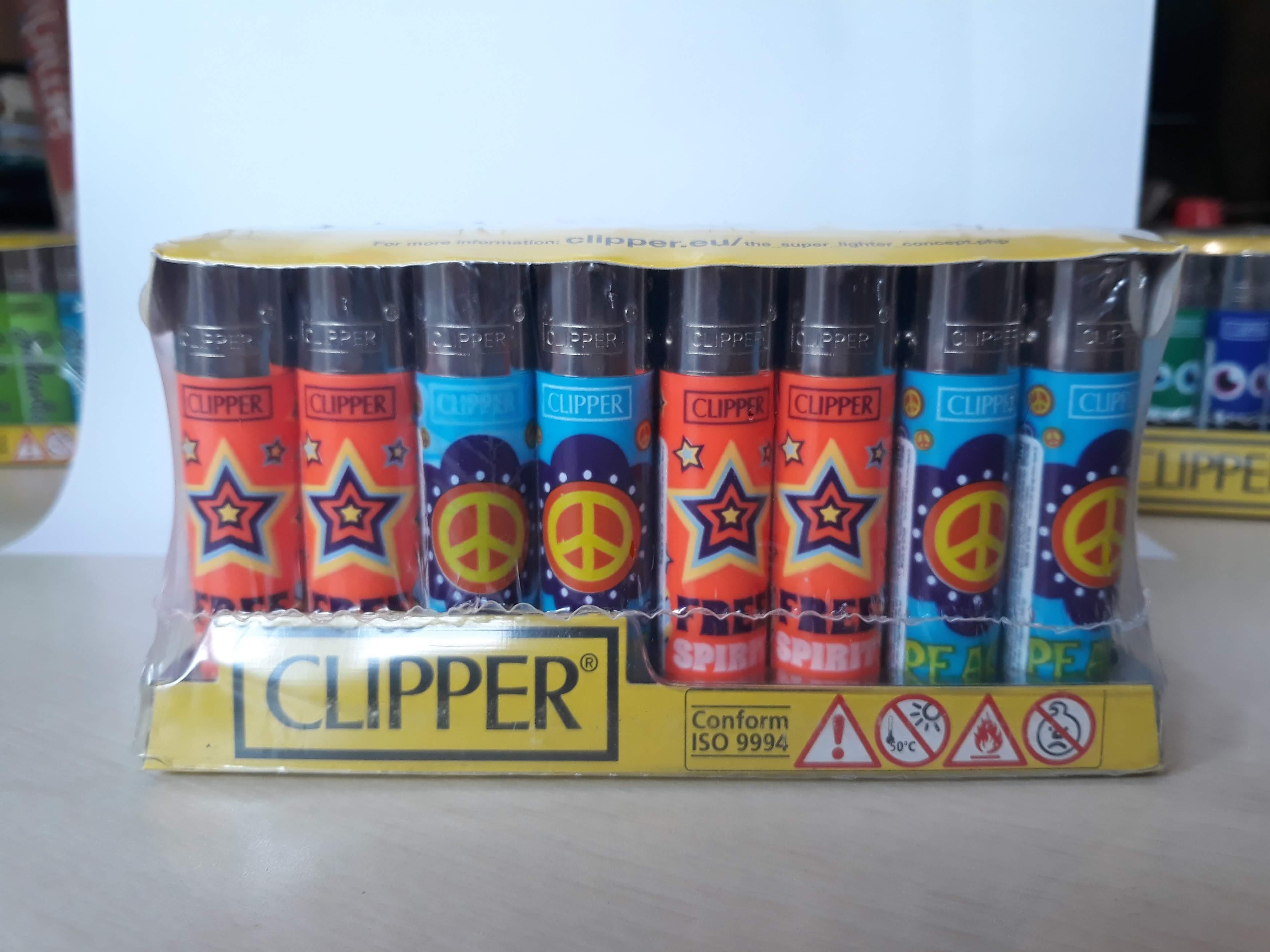 Clipper Lighter New Hippie (48 pcs)