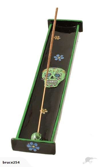 Day of The Dead Poly Resin Incense Burner