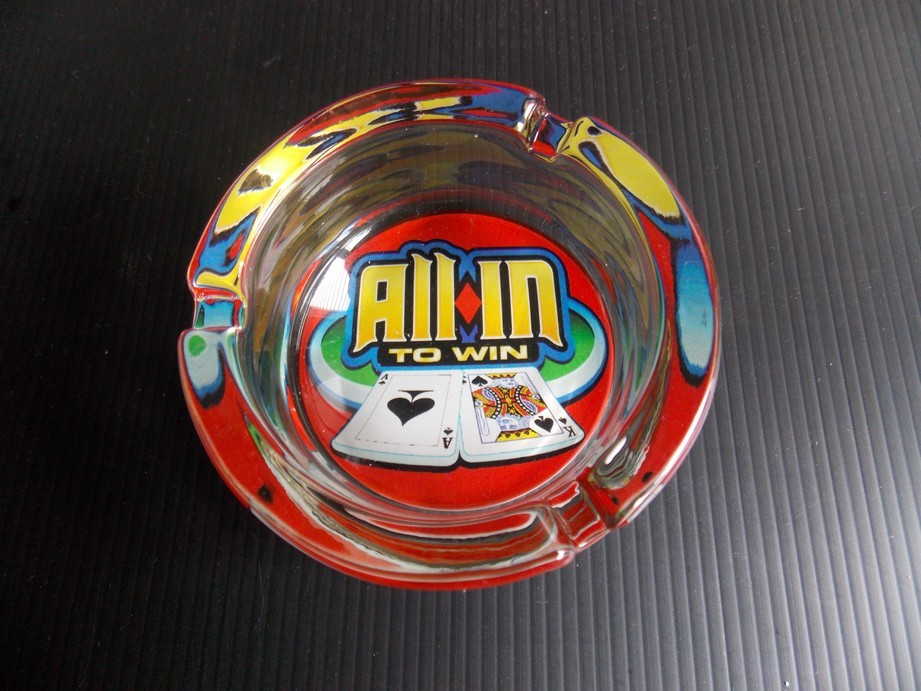 All in to win Glass Ashtray