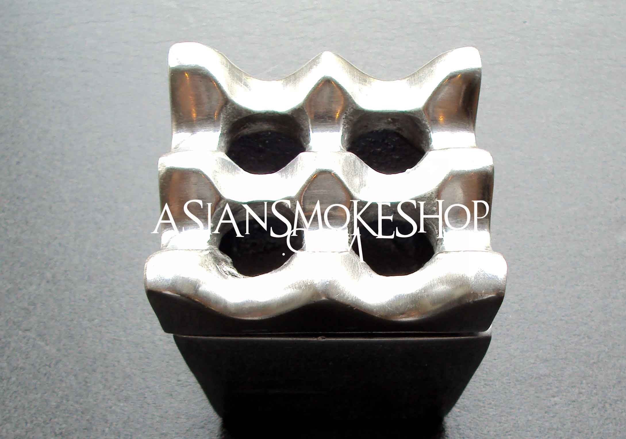 4 Hole Square Ashtray