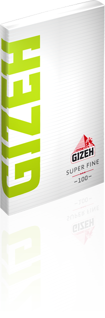 Gizeh Super Fine Slow Burning  Rolling Paper with magnet Seal