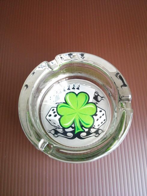 Four Leaf Clover Glass Ashtray