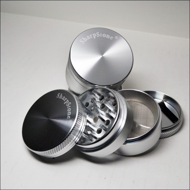 "Ember CNC Hard Top 4 Piece Grinder – 2.2"" Silver"