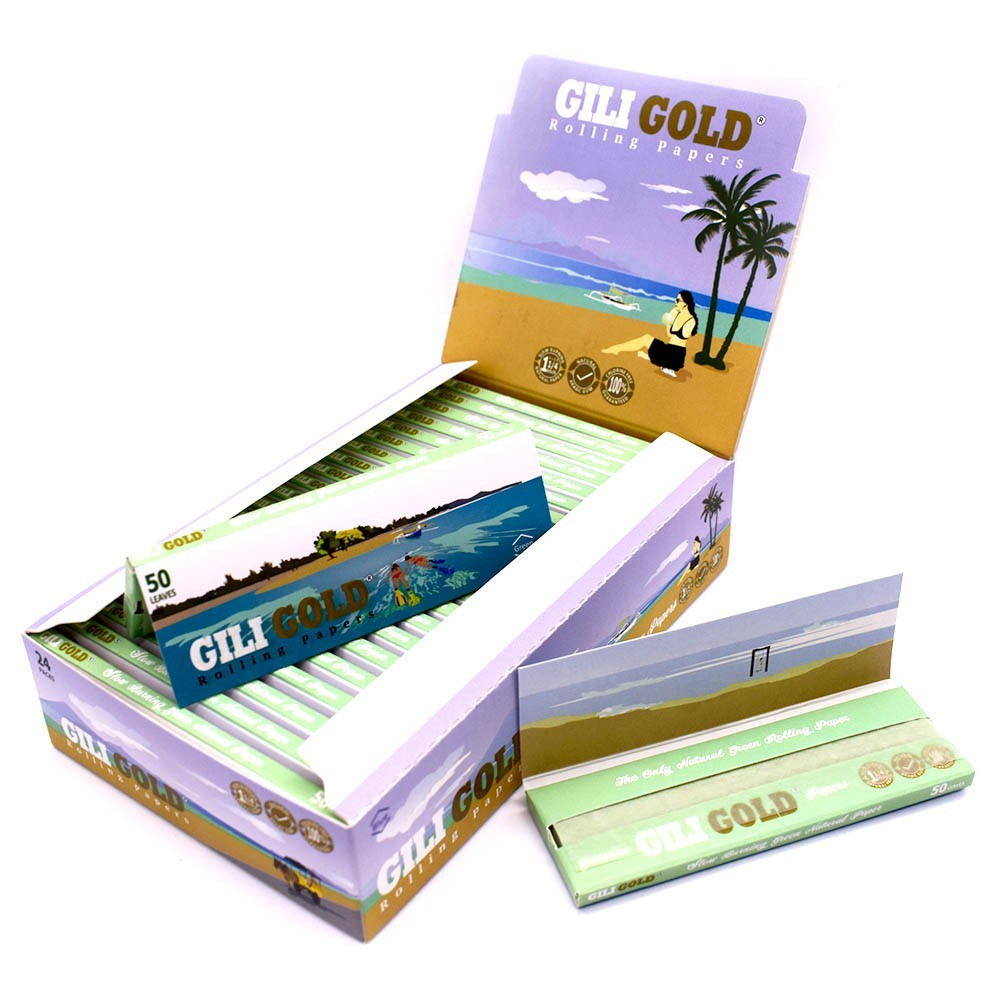Gili Gold Natural Green Rolling Paper