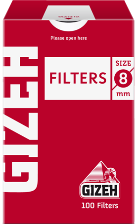 Gizeh Fine Filters Box 8MM 100/box
