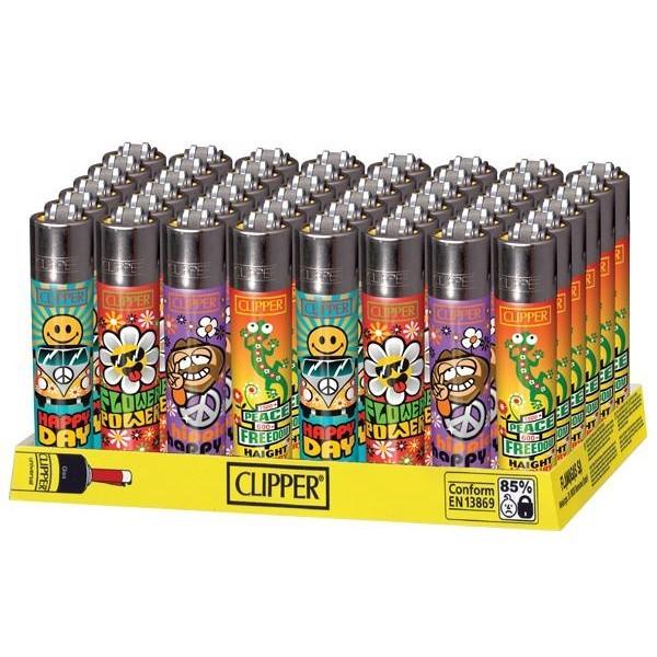Clipper Lighter Hippie (48 pcs)