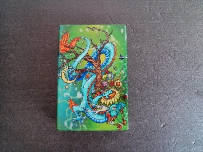 Plastic Cigarette Case - Green Dragon
