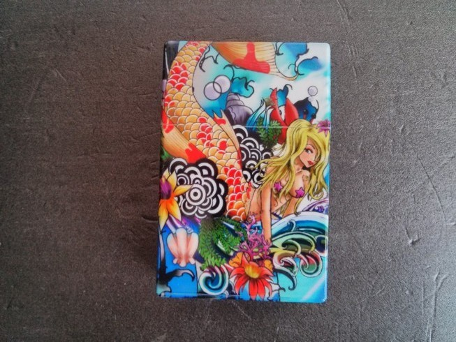 Plastic Cigarette Case - Blue Mermaid