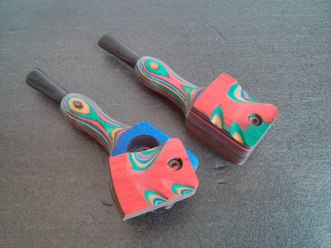 Wooden Tobacco Pipe With Square Cover (WP4)