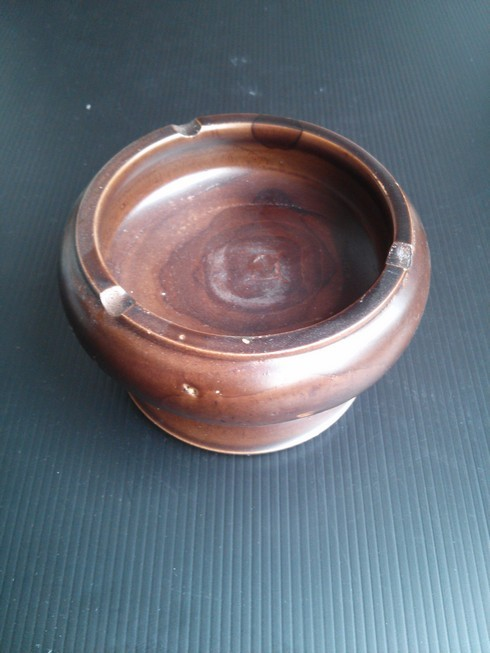 Wooden Round Ashtray