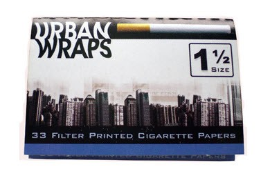 Urban Wraps Cigarette Design Rolling Papers 1 1/2