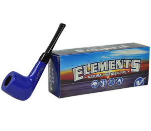 Elements Pipe Blue Engraved