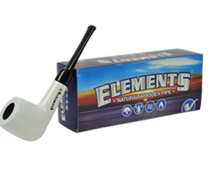 Elements Pipe White Engraved