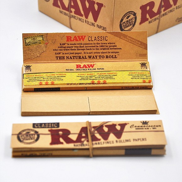 Raw Classic Connoisseur King Size Slim Plus Tips