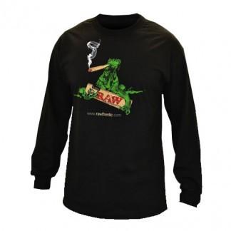 Raw Mens Black Long Sleeve Shirt -(S)