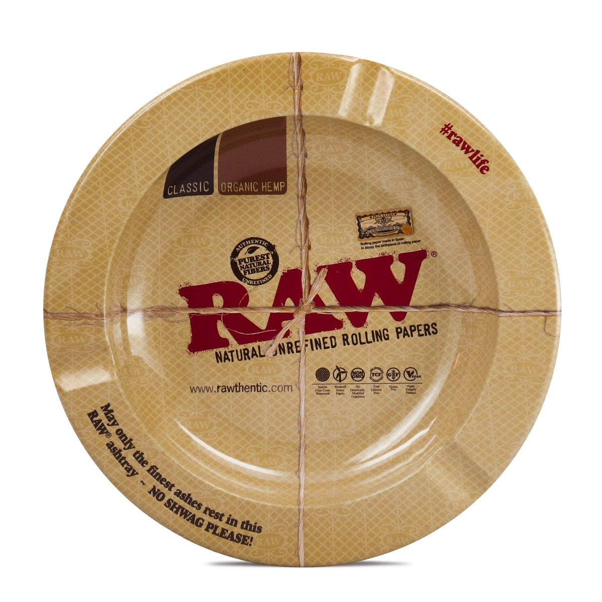 Raw Metal Ashtray with magnet