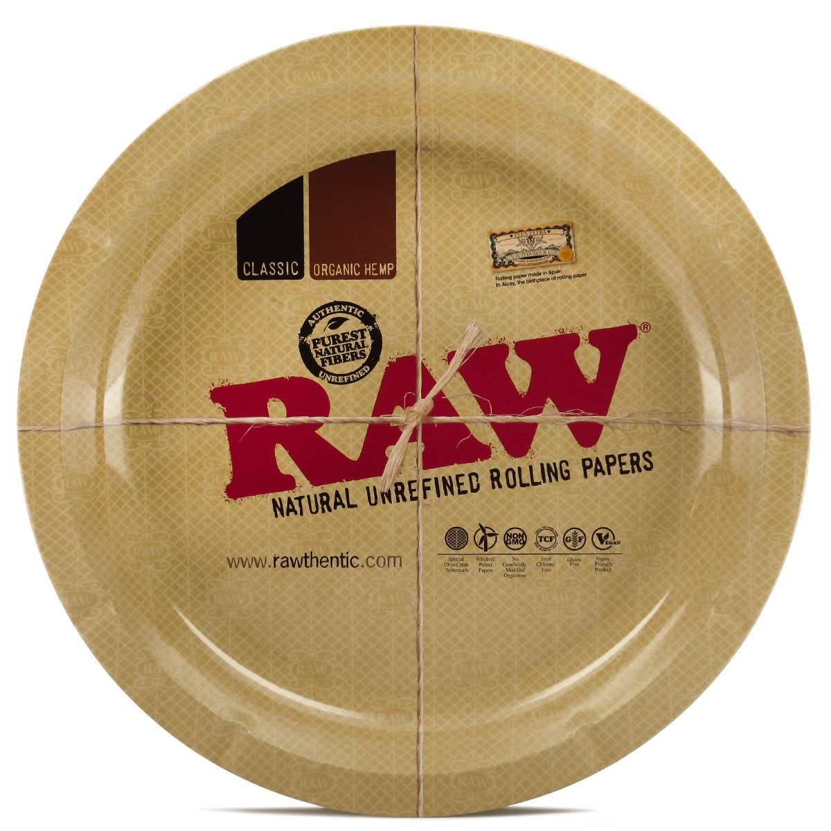 RAW Tray -  Round Metal