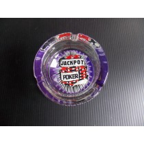 Jackpot Poker Glass Ashtray