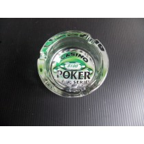 Casino Poker Glass Ashtray