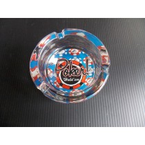 Poker Hold'em Glass Ashtray