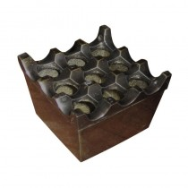 9 Hole Ashtray (Metal) Antique Finish
