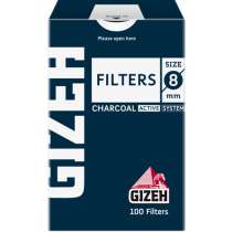 Gizeh Charcoal Filter 8mm 100/box
