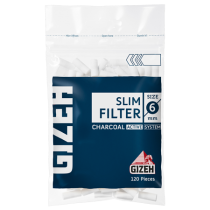 Gizeh Slim Filter Charcoal 6MM 120/bag