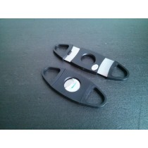 Cigar Cutter 2 Bladed Black