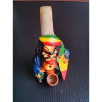 Raisin Bone Pipe - Rasta Tricolor Surf