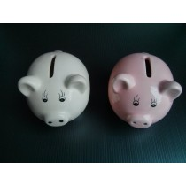 Cute Piggies Money Bank - White