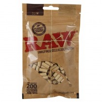 Raw Cellulose Slim Filter 200/bag